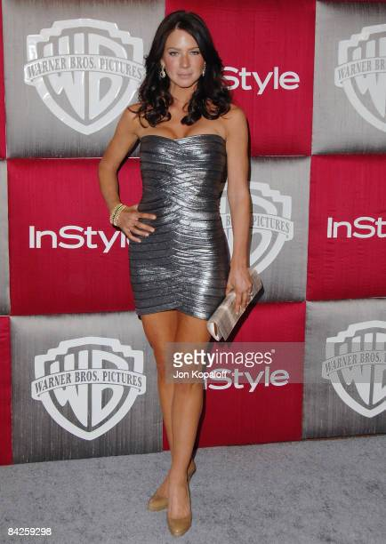 Actress Lynn Collins arrives at the 66th Annual Golden Globe Awards InStyle Warner Bros Official After Party at the Oasis Court at The Beverly Hilton...