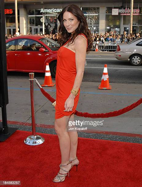 Actress Lynn Collins arrives at the Los Angeles Industry Screening Xmen Origins Wolverine at Grauman's Chinese Theater on April 28 2009 in Hollywood...