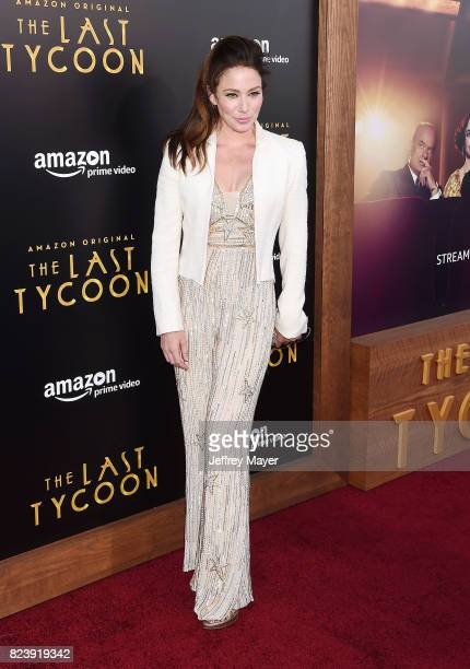 Actress Lynn Collins arrives at the Premiere Of Amazon Studios' 'The Last Tycoon' at the Harmony Gold Preview House and Theater on July 27 2017 in...