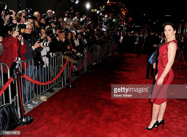 Actress Lynn Collins arrives at the premiere of Walt Disney Pictures' John Carter at the Regal Cinemas LA Live Stadium 14 on February 22 2012 in Los...