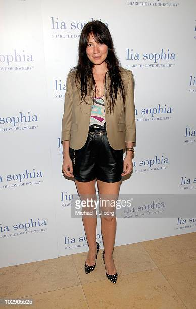 Actress Lynn Collins arrives at the preview party for Lia Sophia's Ianaya II jewelry collection at the Sunset Tower Hotel on July 14 2010 in West...