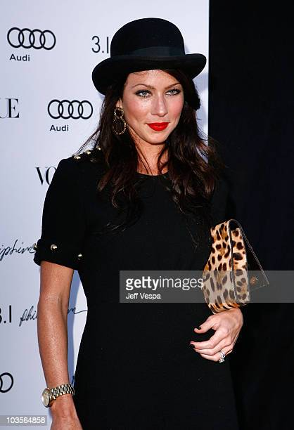Actress Lynn Collins arrives at Vogue's 1 year anniversary party for 3.1 Phillip Lim's LA store held at 3.1 Phillip Lim on July 15, 2009 in West...