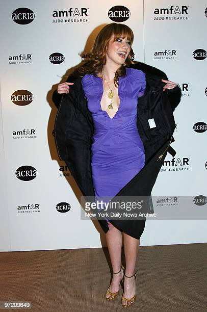 Actress Lynn Collins attends a benefit at Sotheby's to posthumously recognize photographer Herb Ritts for his work and activism In honor of Ritts...