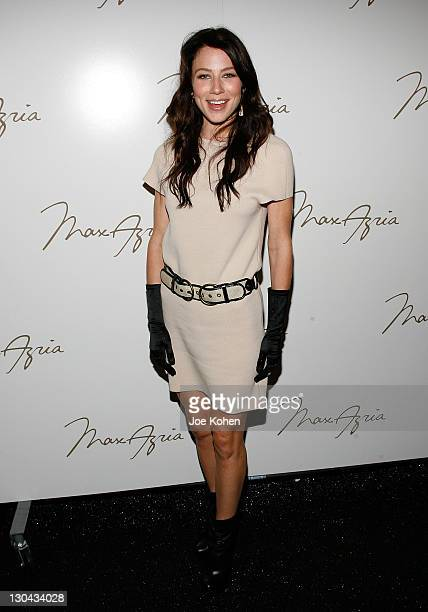 Actress Lynn Collins attends Max Azria Spring 2010 during MercedesBenz Fashion Week at Bryant Park on September 15 2009 in New York City