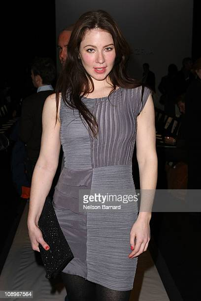 Actress Lynn Collins attends the BCBG Max Azria Fall 2011 fashion show during MercedesBenz Fashion Week at The Theatre at Lincoln Center on February...
