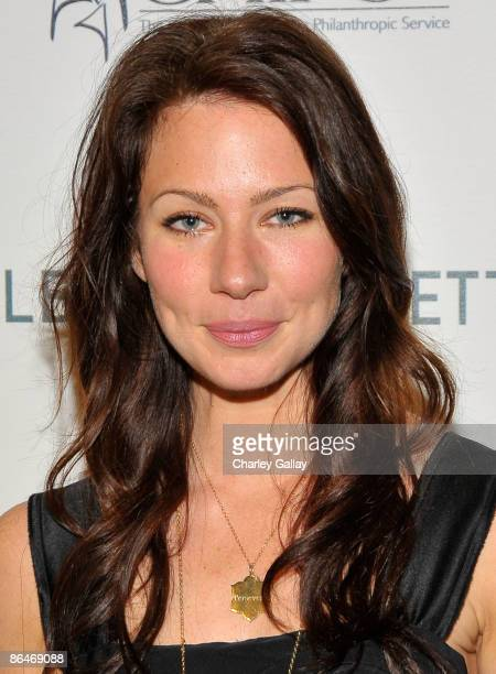 Actress Lynn Collins attends the CHIPS 2009 luncheon and fashion show honoring Alberta Ferretti at the Montage Beverly Hills on May 6 2009 in Los...