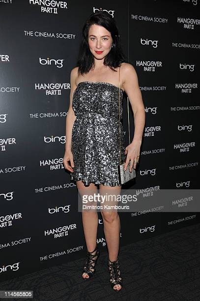 Actress Lynn Collins attends the Cinema Society Bing screening of The Hangover Part II at Landmark Sunshine Cinema on May 23 2011 in New York City