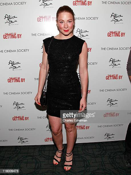 Actress Lynn Collins attends The Cinema Society with AliceOlivia screening of The Art of Getting By at Landmark Sunshine Cinema on June 13 2011 in...