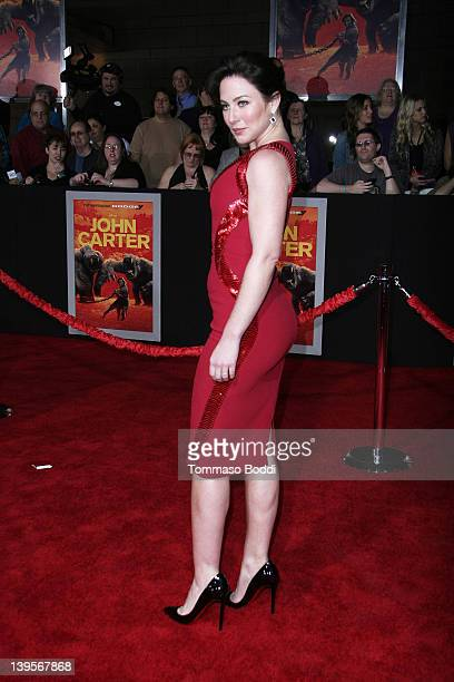 Actress Lynn Collins attends the John Carter Los Angeles premiere held at the Regal Cinemas LA Live on February 22 2012 in Los Angeles California
