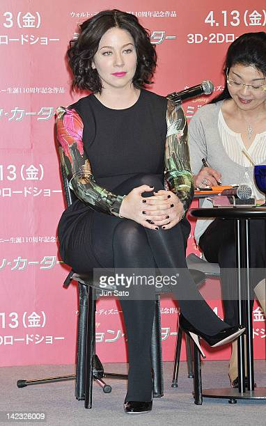 Actress Lynn Collins attends the 'John Carter' Press Conference at the Ritz Carlton Tokyo on April 2 2012 in Tokyo Japan The film will open on April...