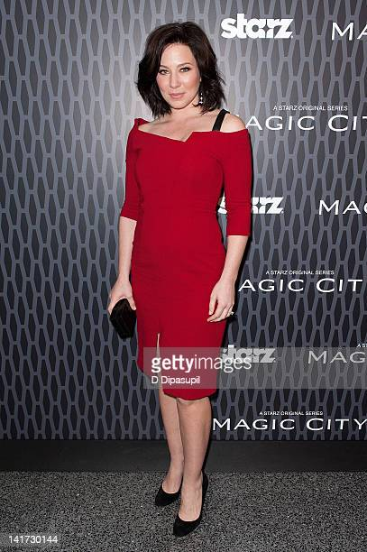 Actress Lynn Collins attends the Magic City screening at the Academy Theater at Lighthouse International on March 22 2012 in New York City