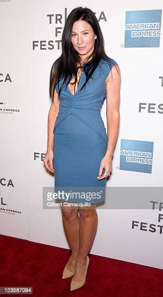 Actress Lynn Collins attends the premiere of Angel's Crest during the 10th annual Tribeca Film Festival at BMCC Tribeca PAC on April 22 2011 in New...