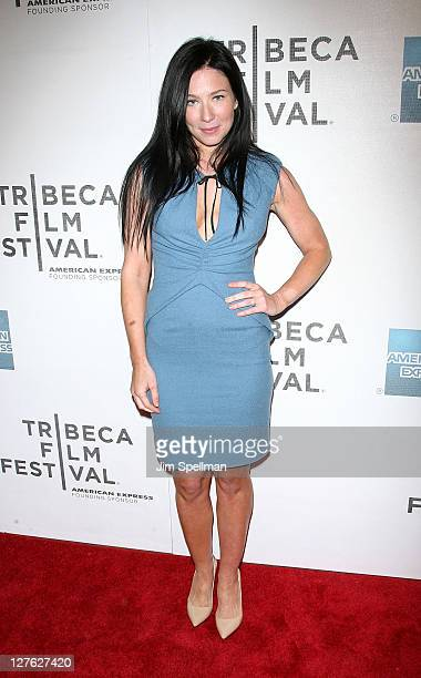 Actress Lynn Collins attends the premiere of Angels Crest during the 10th annual Tribeca Film Festival at BMCC Tribeca PAC on April 22 2011 in New...