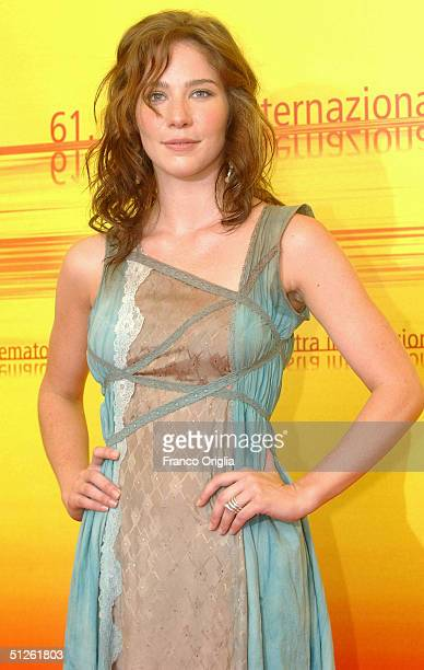 Actress Lynn Collins attends the The Merchant Of Venice Photocall at the 61st Venice Film Festival on September 4 2004 in Venice Italy