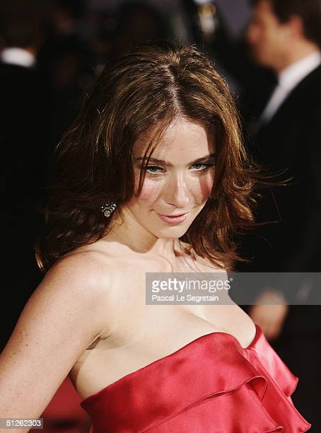 Actress Lynn Collins attends the The Merchant Of Venice Premiere at the 61st Venice Film Festival on September 4 2004 in Venice Italy