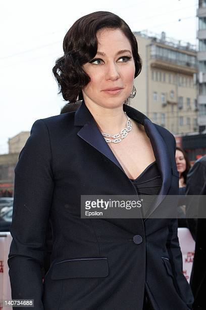 Actress Lynn Collins attends the Walt Disney 'John Carter' premiere at Oktyabr cinema hall on March 5 2012 in Moscow Russia