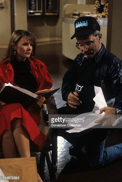 Actress Lynn Herring on General Hospital Set with Director in circa 1985 in Los Angeles California