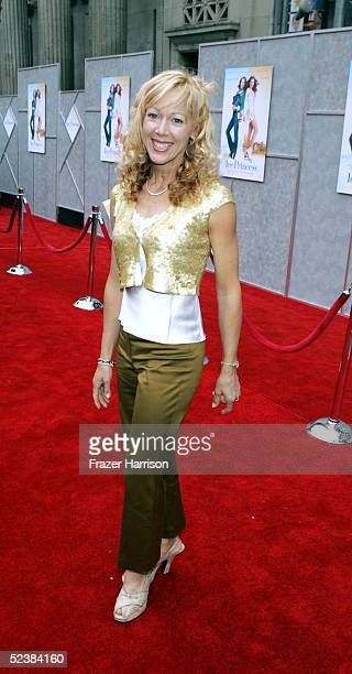 Actress Lynn Holly Johnson arrives at the Walt Disney premiere of The Ice Princess at the El Capitan Theatre on March 13 2005 in Hollywood California