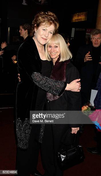 Actress Lynn Redgrave and Rita Tushingham attend the book launch party for Lynn's new autobiography Journal A Mother and Daughter's Recovery from...