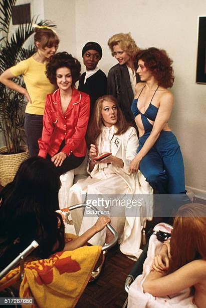Actress Lynn Redgrave in her role as Xaviera Hollander in film version of The Happy Hooker Also scenes from the movie Redgrave with the girls
