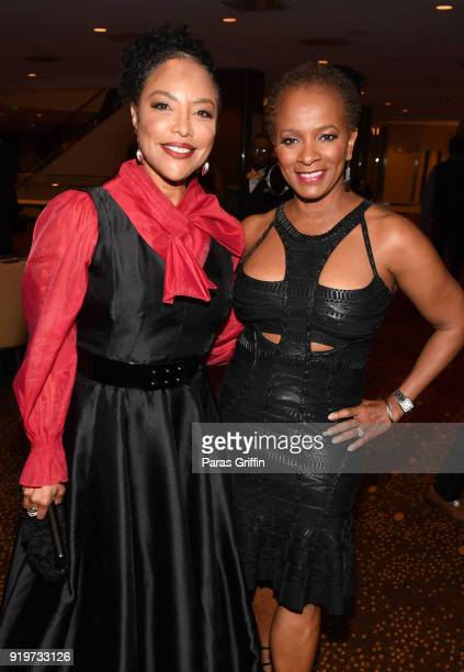 Actress Lynn Whitfield and actress Vanessa Bell Calloway attend Morehouse College 30th Annual A Candle In The Dark Gala at The Hyatt Regency Atlanta...