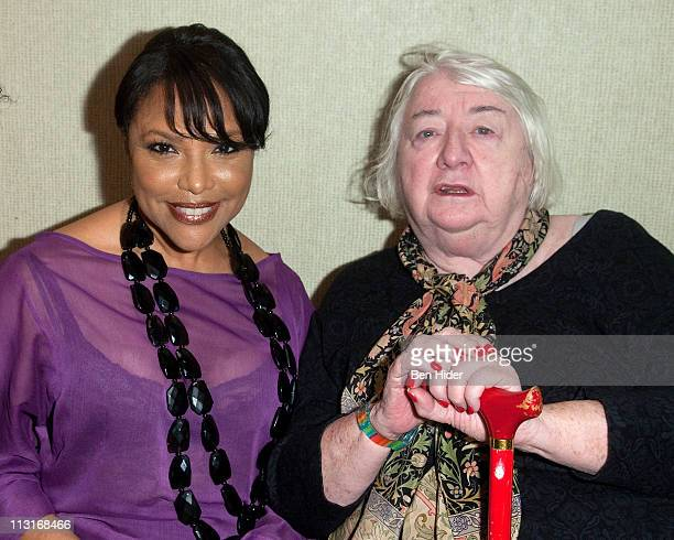 Actress Lynn Whitfield and producer Elizabeth I McCann attends Woodie King Jr's New Federal Theatre's 40th anniversary gala at Trump Plaza on April...