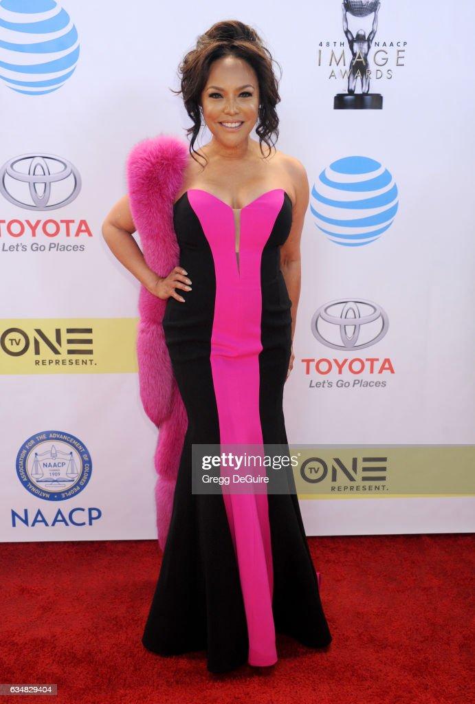 Actress Lynn Whitfield arrives at the 48th NAACP Image Awards at Pasadena Civic Auditorium on February 11, 2017 in Pasadena, California.