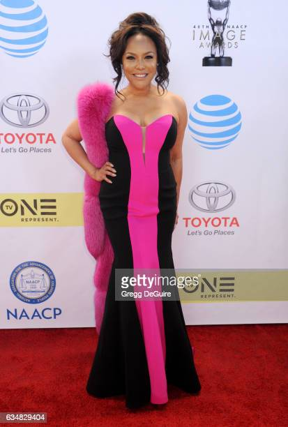 Actress Lynn Whitfield arrives at the 48th NAACP Image Awards at Pasadena Civic Auditorium on February 11 2017 in Pasadena California
