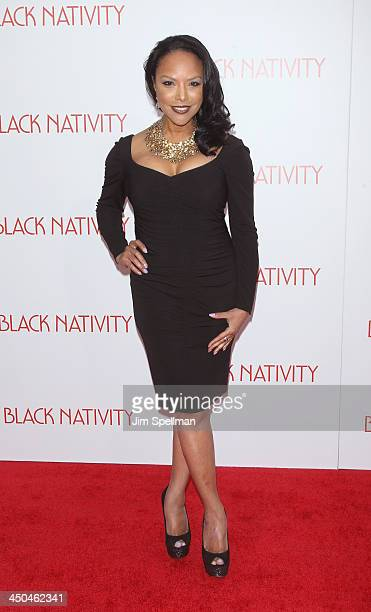 Actress Lynn Whitfield attends the 'Black Nativity' premiere at The Apollo Theater on November 18 2013 in New York City