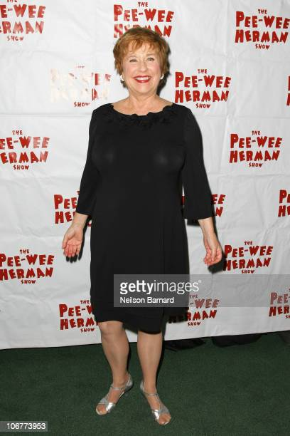 Actress Lynne Marie Stewart attends the Broadway opening night after party of The PeeWee Herman Show at Bryant Park Grill on November 11 2010 in New...