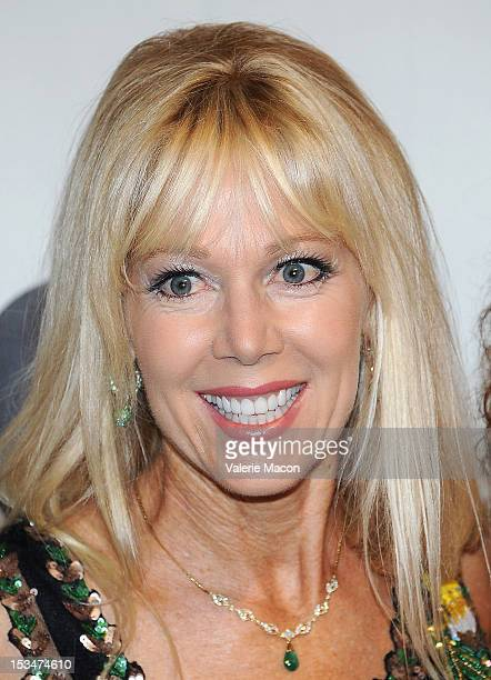Actress LynnHolly Johnson attends The Academy Of Motion Picture Arts And Sciences' Presents The Music Of Bond The First 50 Years at AMPAS Samuel...