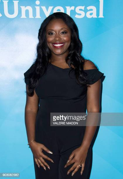 Actress Lyric Lewis attends the NBC Universal TCA Winter Press Tour on January 9 in Pasadena California / AFP PHOTO / VALERIE MACON