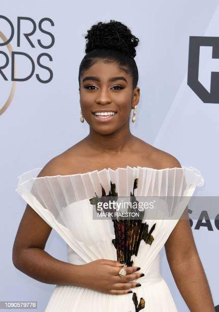 Actress Lyric Ross arrives for the 25th Annual Screen Actors Guild Awards at the Shrine Auditorium in Los Angeles on January 27 2019