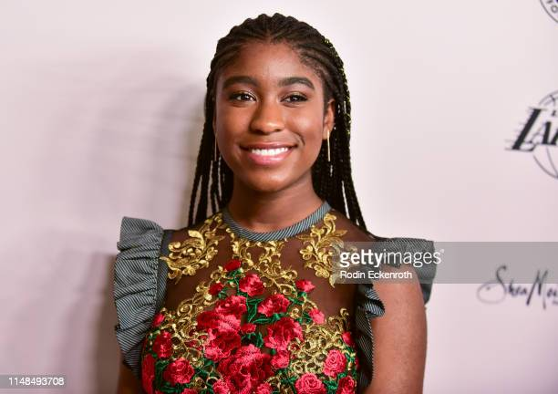 Actress Lyric Ross attends The LadyLike Foundation's 11th Annual Women of Excellence Luncheon at The Beverly Hilton Hotel on May 11 2019 in Beverly...