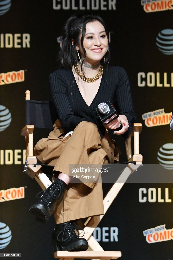 Actress Lyrica Okano participates in Hulu's Runaways panel at New York Comic Con at Jacob Javits Center on October 6, 2017 in New York City.