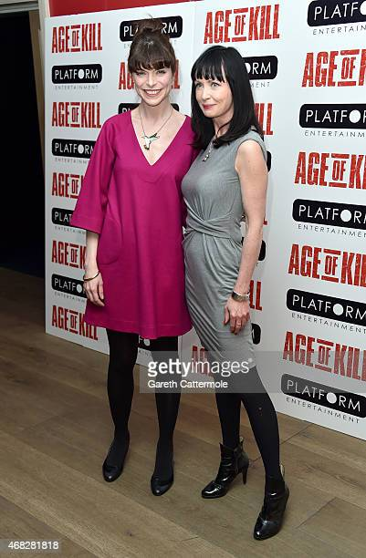 Actress Lysette Anthony and guest attend a private screening of Age Of Kill at Ham Yard Hotel on April 1 2015 in London England