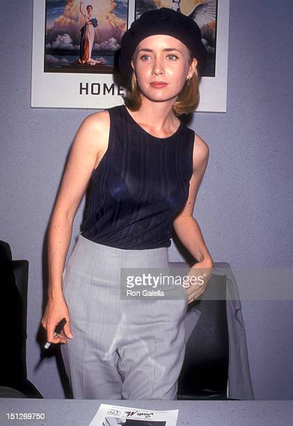 Actress Lysette Anthony attends the 1993 Video Software Dealers Association Convention on July 11 1993 at Las Vegas Convention Center in Las Vegas...