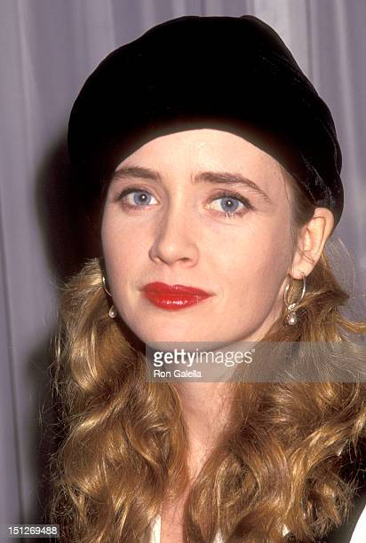 Actress Lysette Anthony attends the Playboy Magazine Cocktail Party Toasting Liz Smith on January 8 1992 at Mortimer's Restaurant in New York City