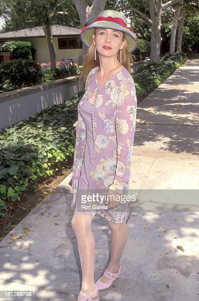 Actress Lysette Anthony attends the Wedding of Marina Sirtis and Michael Lamper on June 21 1992 at Saint Sophia Greek Orthodox Church in Los Angeles...
