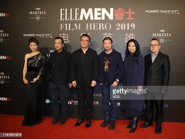 Actress Ma Yili and screenwriter-director Lou Ye attend Elle Film Hero 2019 on November 14, 2019 in Beijing, China.