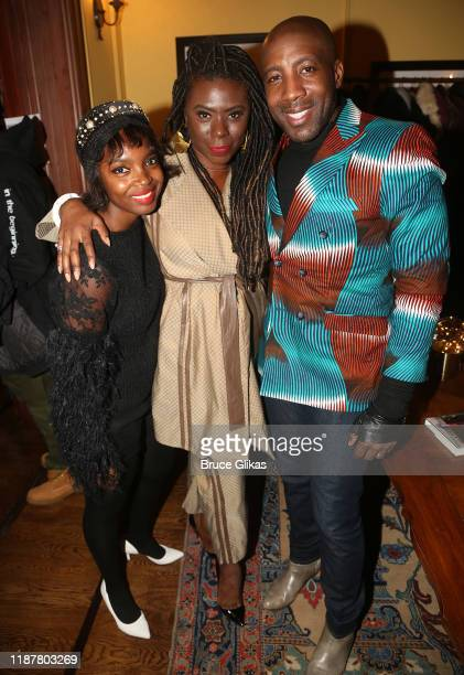 Actress MaameYaa Boafo Creator/Host of North of 40 Podcast Maryam Myika Day and guest pose at the celebration for the North of 40 Podcast Launch at...