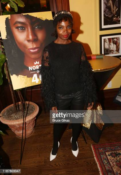 Actress MaameYaa Boafo poses at the celebration for the North of 40 Podcast Launch at Dapper Dan Atelier on November 14 2019 in New York City