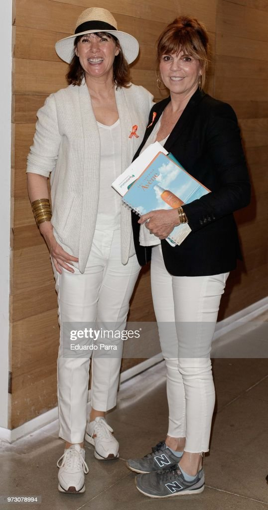 Actress Mabel Lozano (L) and Belinda Washington attend the 'Avene support skin cancer prevencion' event at UnoNueve space on June 13, 2018 in Madrid, Spain.