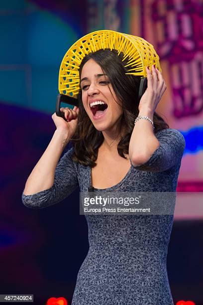 Actress Macarena Garcia attends 'El Hormiguero' TV show on October 14 2014 in Madrid Spain