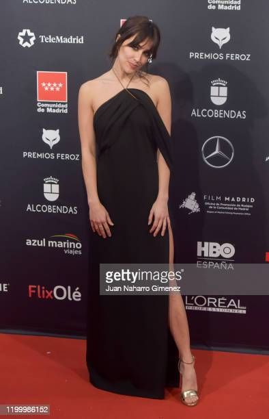 Actress Macarena Garcia attends Feroz awards 2020 red carpet at Teatro Auditorio Ciudad de Alcobendas on January 16 2020 in Madrid Spain