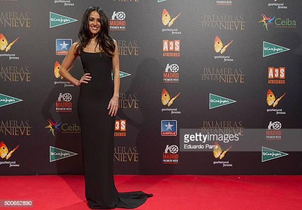 Actress Macarena Garcia attends 'Palmeras en la nieve' premiere at Kinepolis cinema on December 9 2015 in Madrid Spain