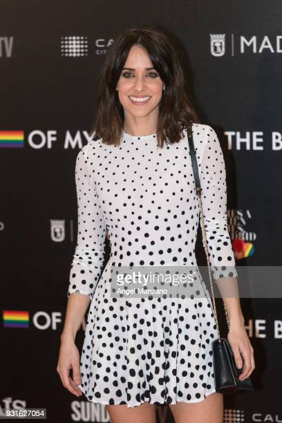 Actress Macarena Garcia attends 'The Best Day Of My Life' Madrid premiere at Callao cinema on March 13 2018 in Madrid Spain