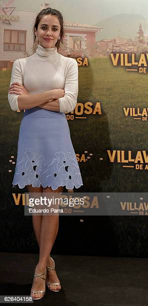 Actress Macarena Garcia attends the 'Villaviciosa de Al Lado' photocall at Palacio de los Duques hotel on November 29 2016 in Madrid Spain