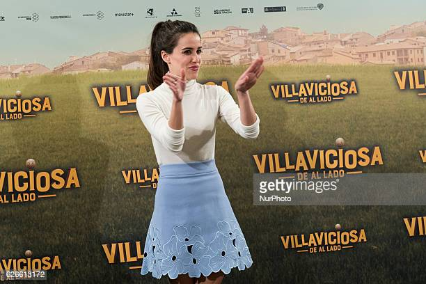 Actress Macarena Garcia attends the 'Villaviciosa de Al Lado' photocall at Palacio de los Duques hotel on November 29, 2016 in Madrid, Spain.