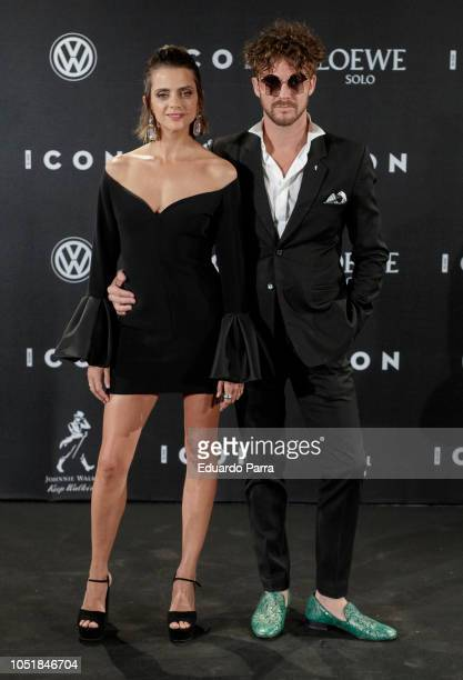 Actress Macarena Gomez and Aldo Comas attend the 'Icon Awards 2018' photocall at Real Tapestry Factory on October 10 2018 in Madrid Spain